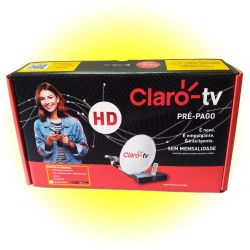 Kit Claro Tv C/ Receptor Hd Saída Hdmi - Completo Para Tv Hd E RCA