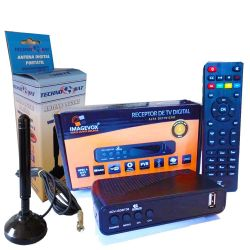 KIT Conversor Digital P/ TV com Antena Interna c/imã Cabo de 5M